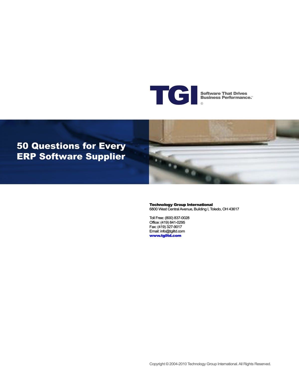 Enterprise 21 ERP White Paper - 50 Questions for Every ERP Software Supplier