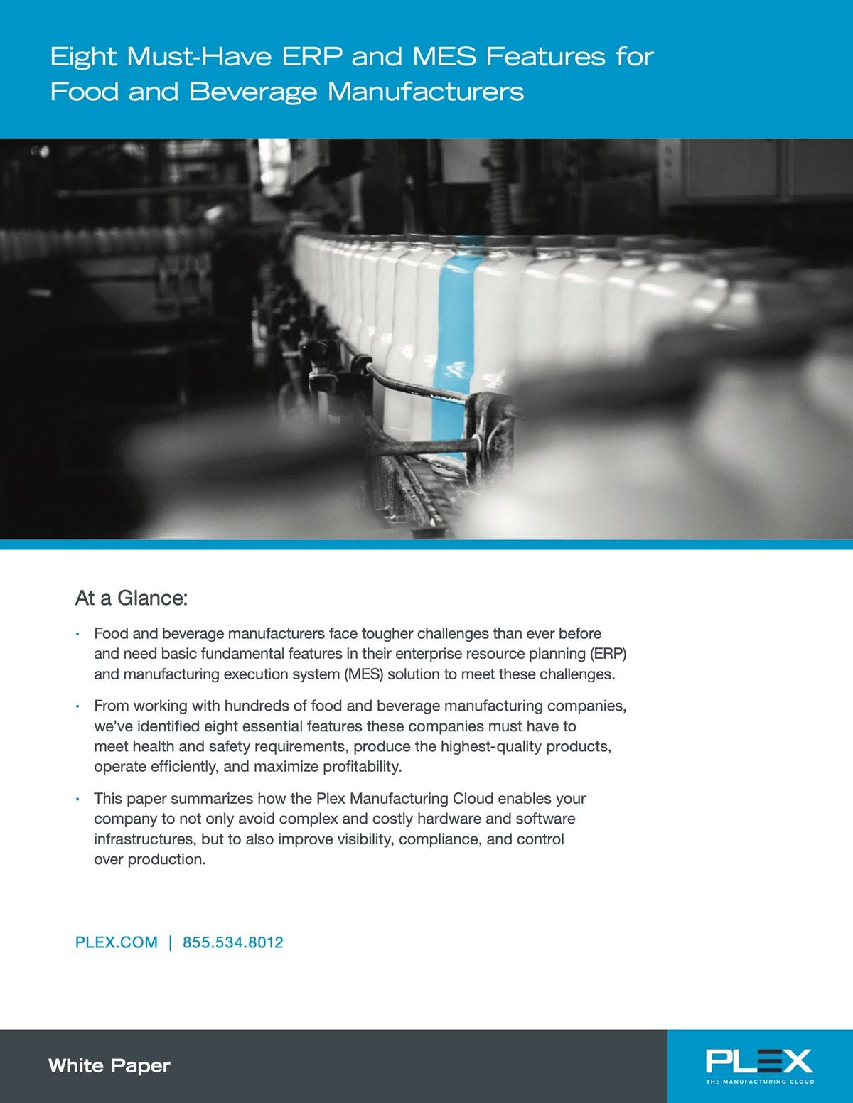 Plex Manufacturing Cloud White Paper - 8 Must-Have ERP and MES Features for Food and Beverage