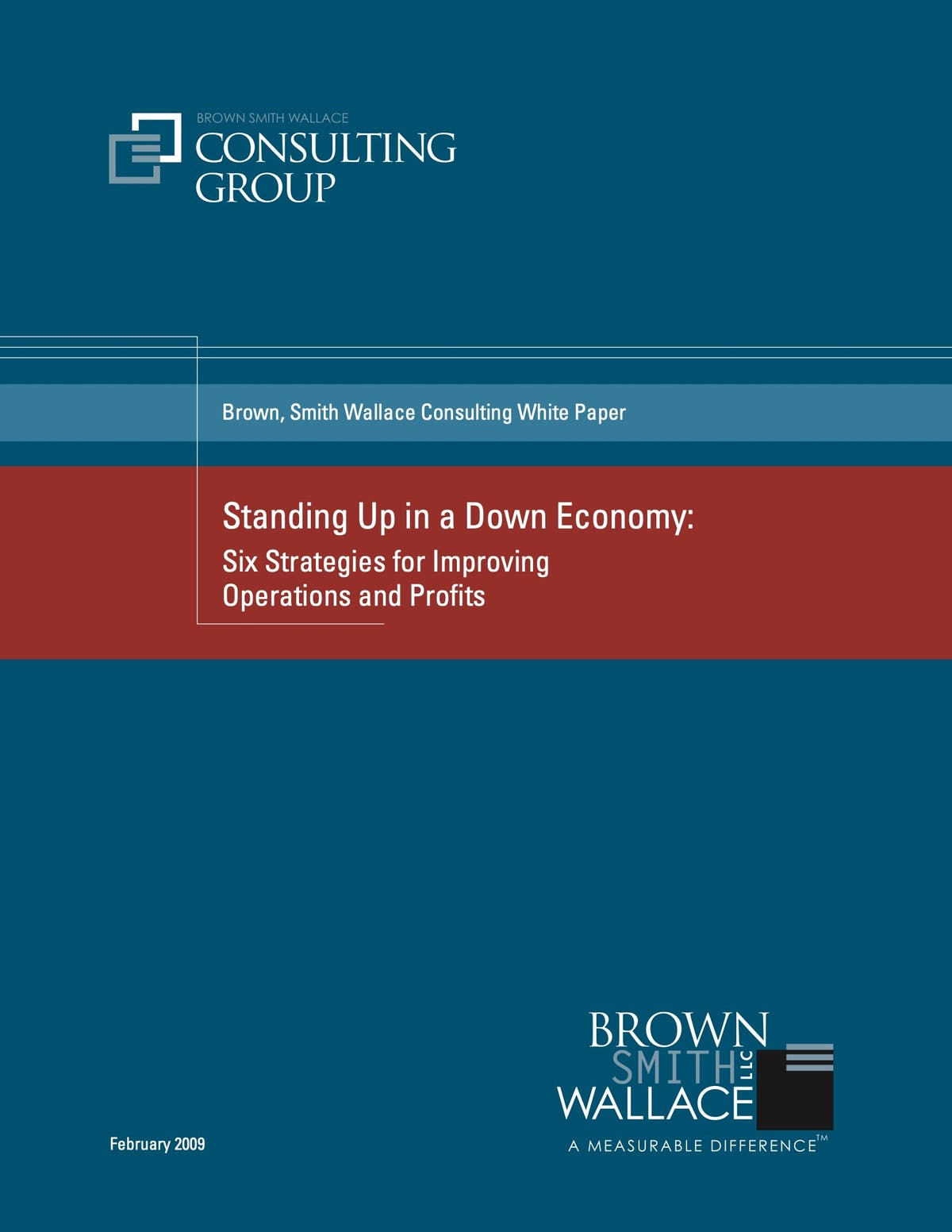 Infor Distribution SX.e White Paper - Standing up in a Down Economy: Six Strategies for Improving Operations and Profits
