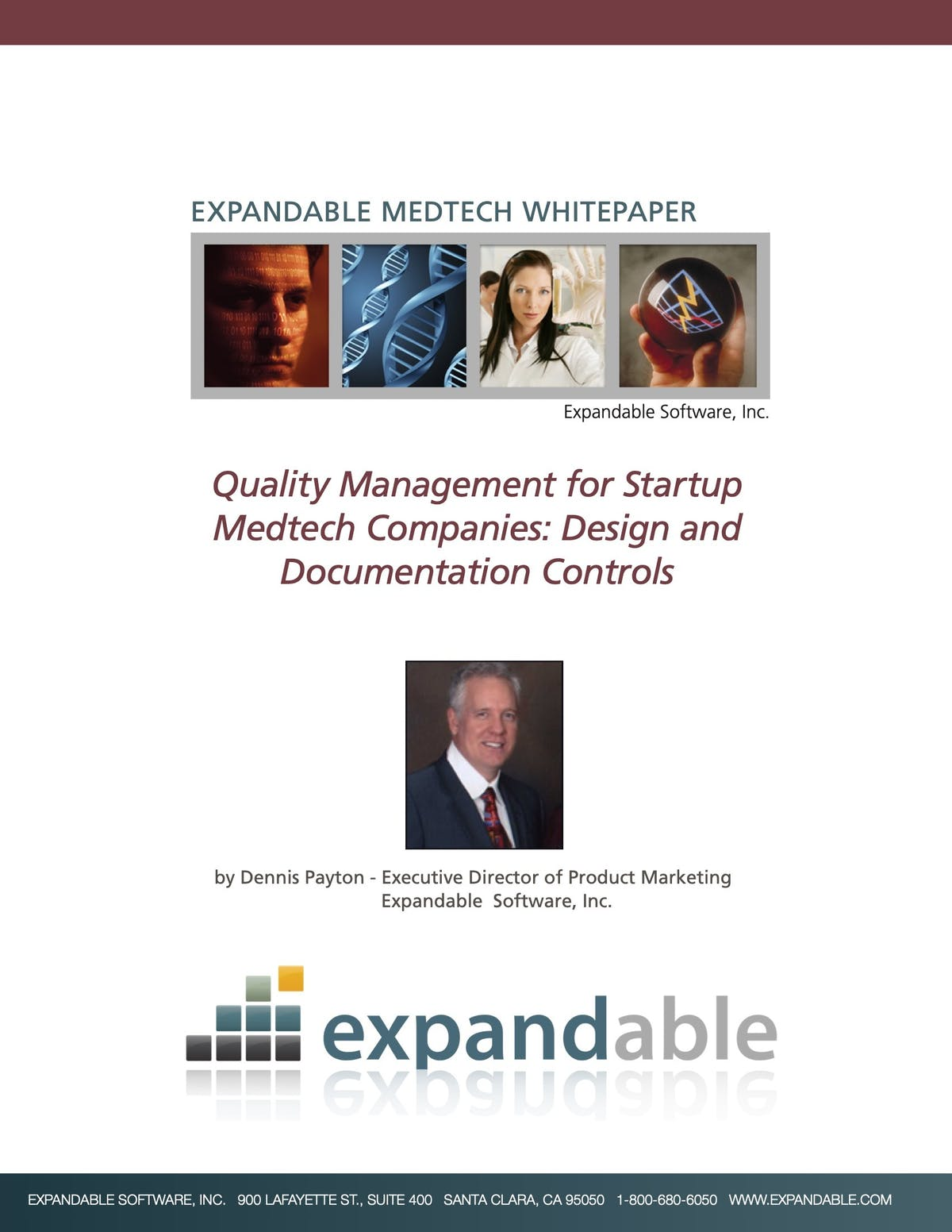 Expandable ERP White Paper - Quality Management for Startup Medtech Companies: Design and Documentation Controls
