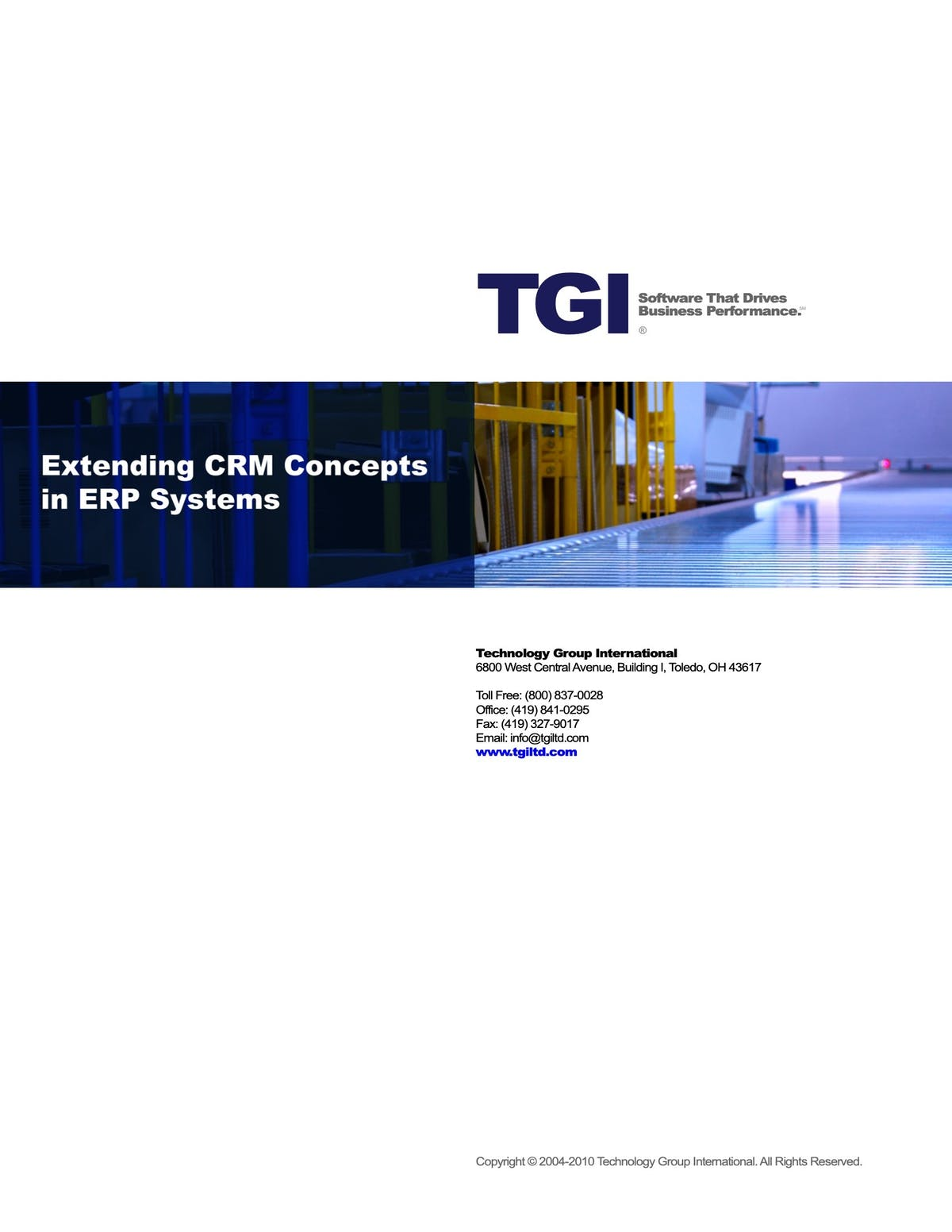 Enterprise 21 ERP White Paper - Extending CRM Concepts in ERP Systems