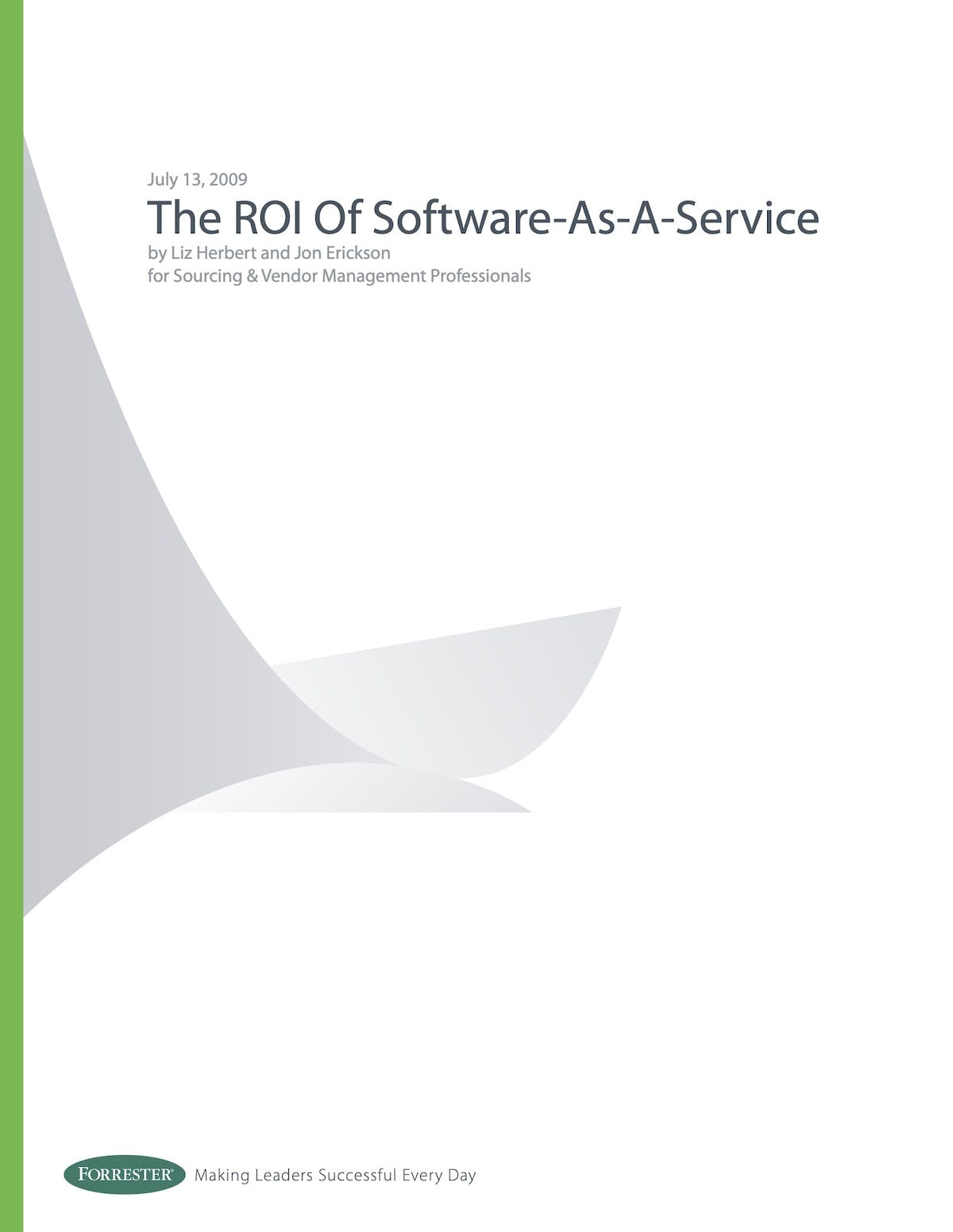SAP Business ByDesign White Paper - The ROI of Software-as-a-Service