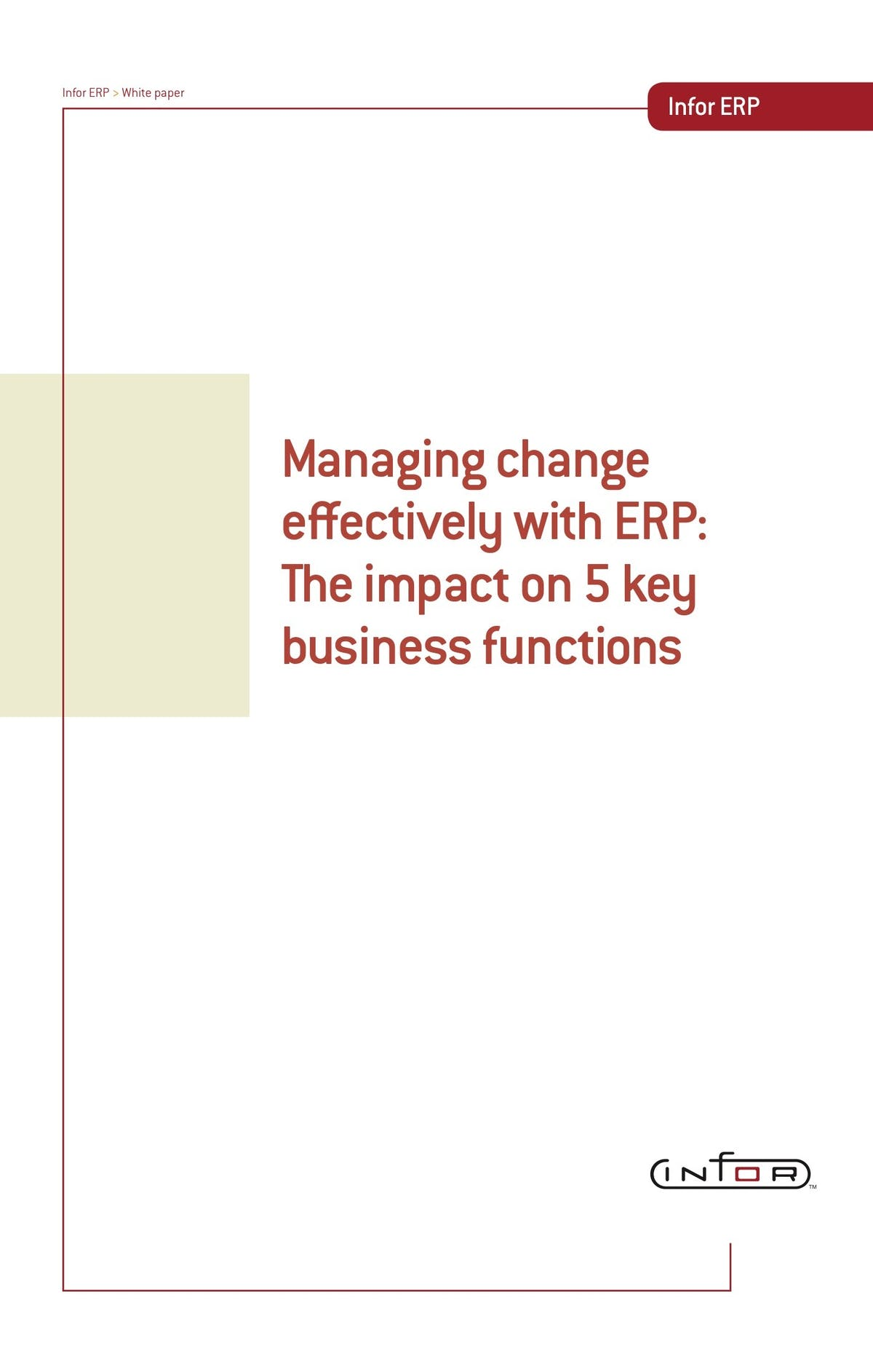 Infor LN White Paper - Managing Change Effectively with ERP