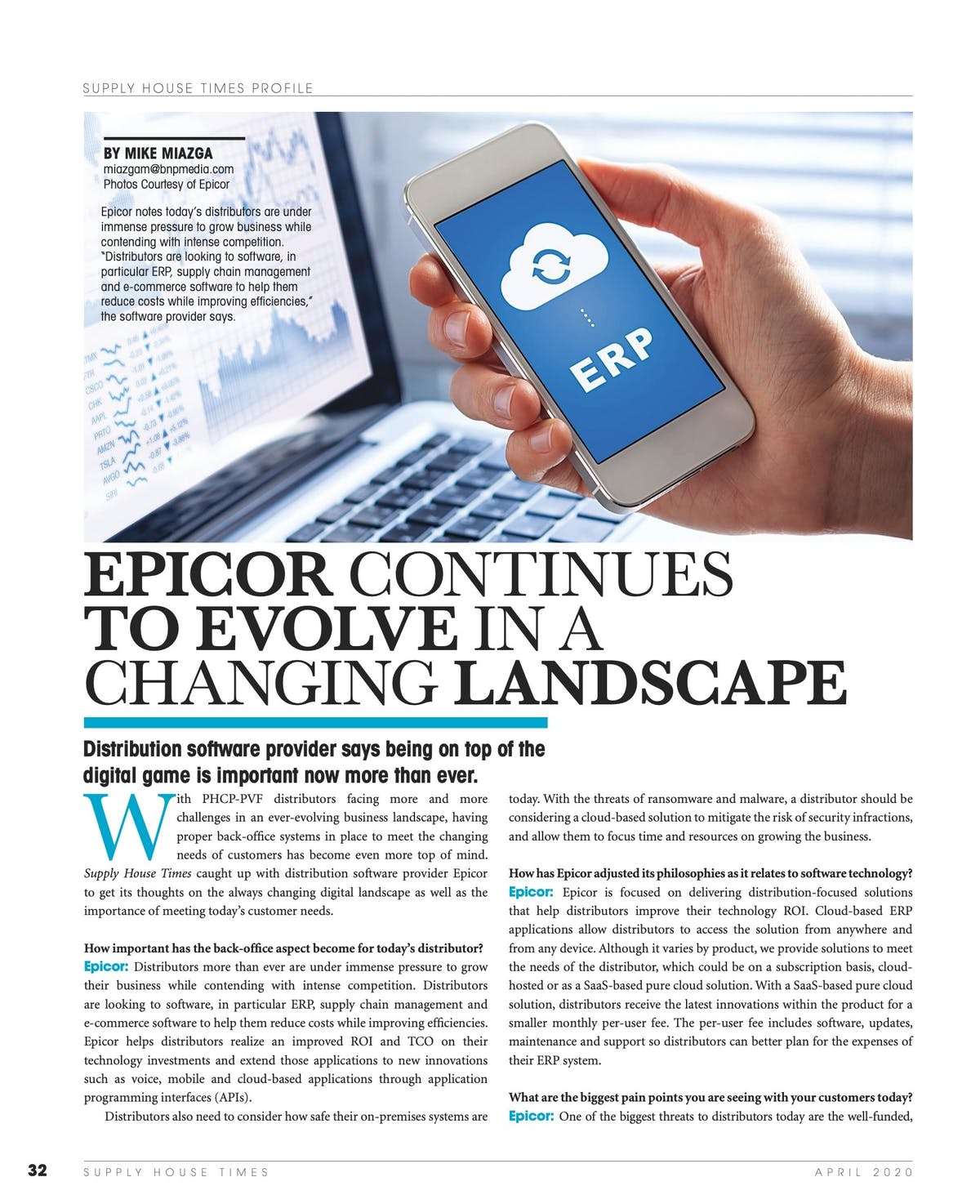 Epicor Prophet 21 White Paper - Epicor Continues to Evolve in a Changing Landscape
