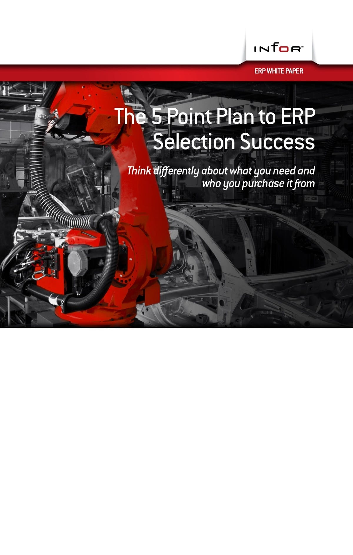 Infor VISUAL White Paper - The Five Point Plan To ERP Selection Success