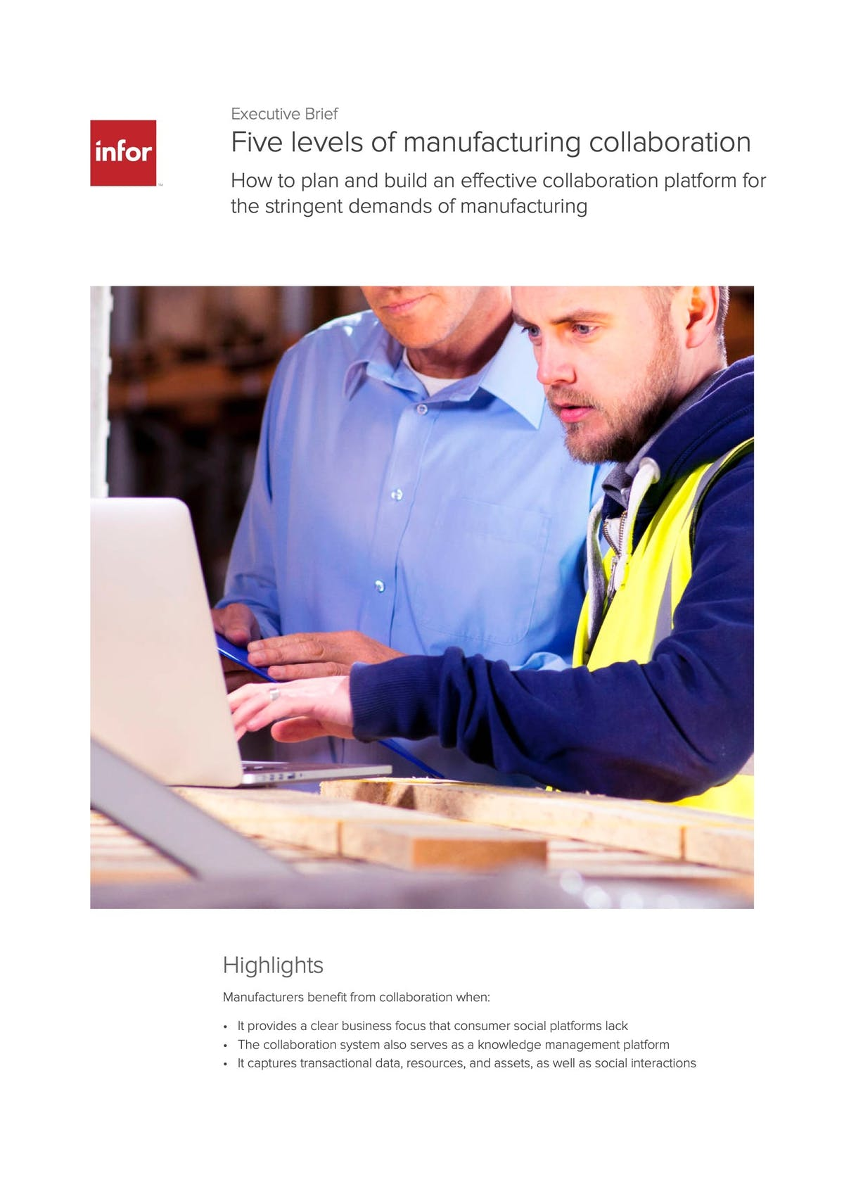 Infor CloudSuite Industrial (Syteline) White Paper - Five Levels of Manufacturing Collaboration