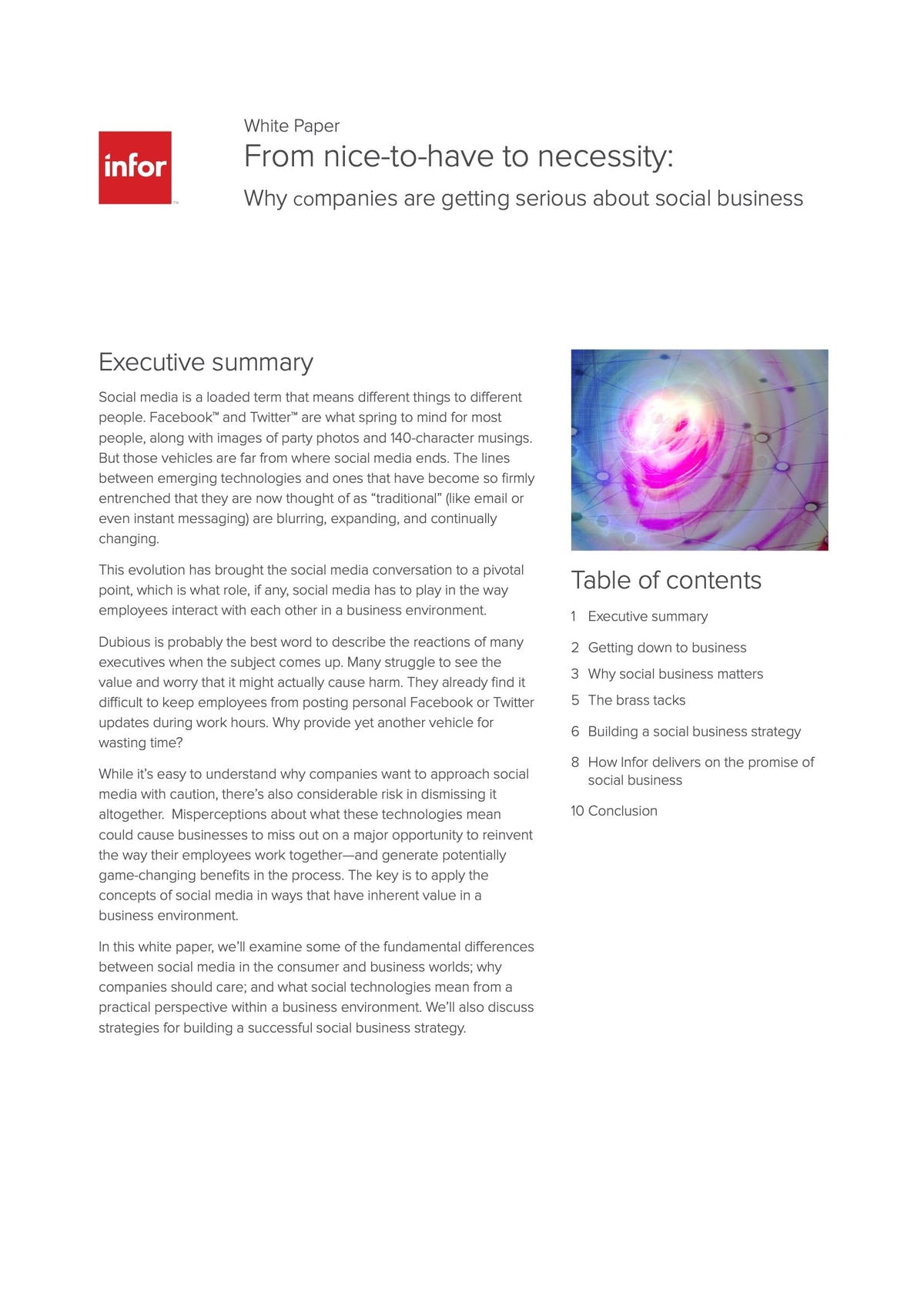 Infor CloudSuite Industrial (Syteline) White Paper - From Nice-to-Have to Necessity