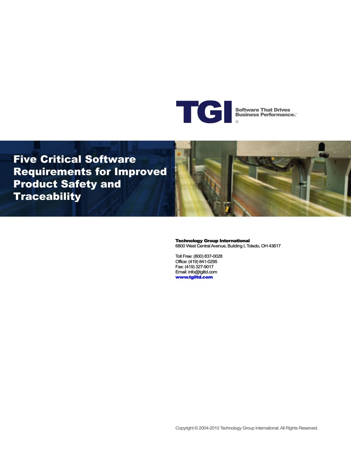 Enterprise 21 ERP White Paper - Five Critical Software Requirements for Improved Product Safety and Traceability