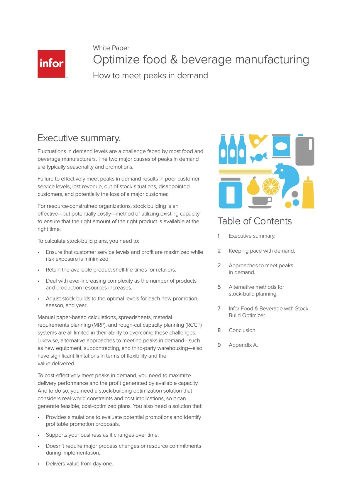 Infor M3 White Paper - Optimize Food & Beverage Manufacturing