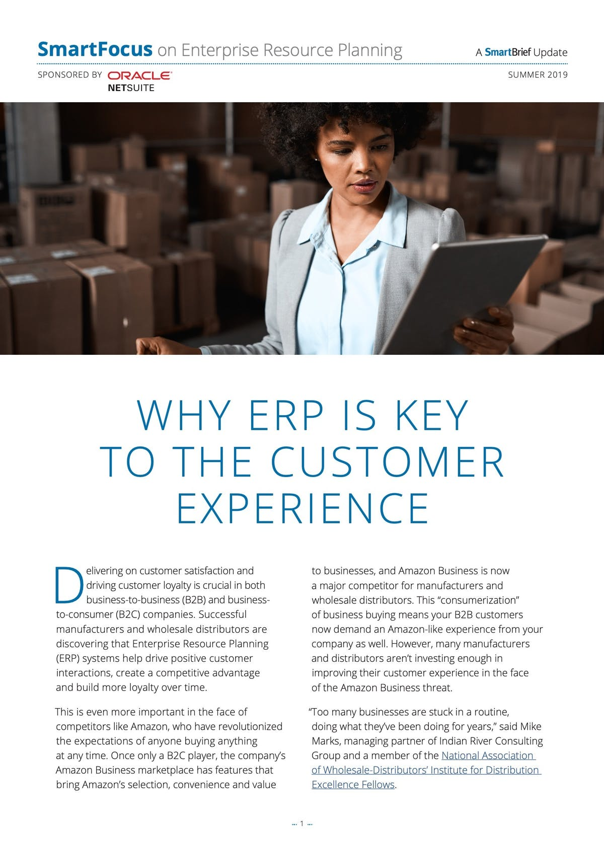 NetSuite ERP White Paper - Why ERP is the Key to Customer Experience