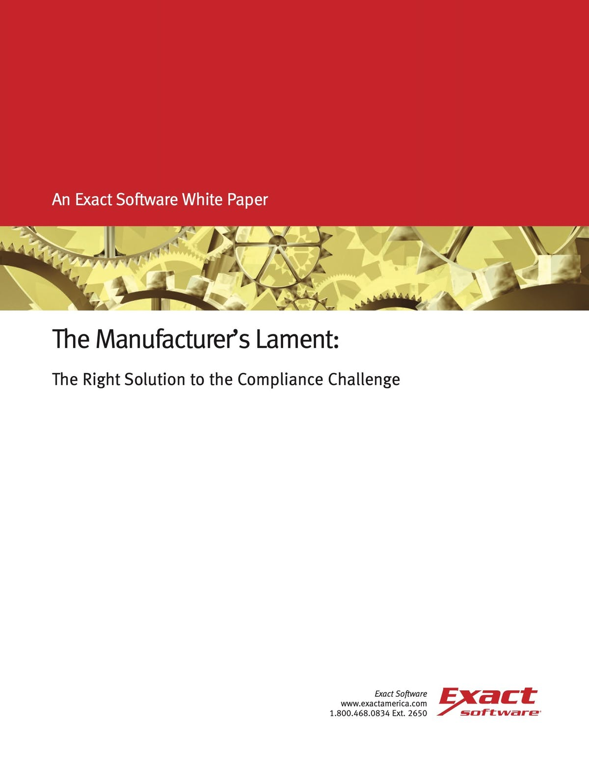 MAX ERP White Paper - The Manufacturers Lament: The Right Solution to the Compliance Challenge