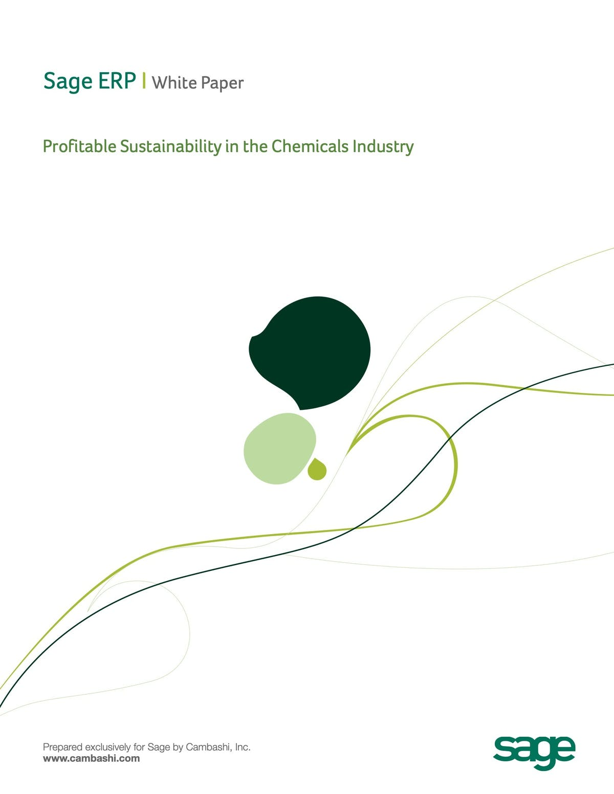 Sage X3 ERP White Paper - Profitable Sustainability in the Chemical Industry